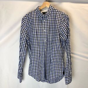 Men's Rag & Bone Canvas Button Up Shirt SZ M